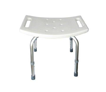 AR-202 krzesło prysznicowe bez oparcia aluminiowe