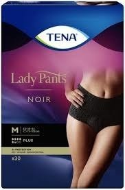 Tena lady Pants Plus NOIRE a30