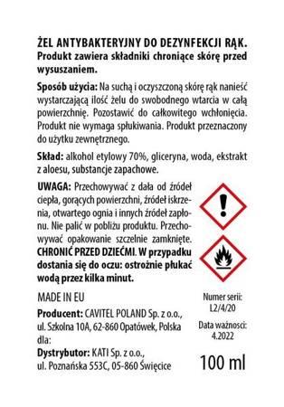 żel do dezynfekcji z aloesem Veera Hand-Care 100 ml